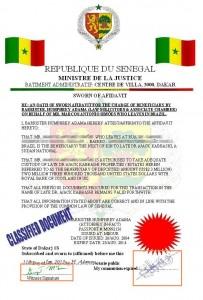 Affidavit of Oath - Analise de Fraudes Online (Phishing Scam)