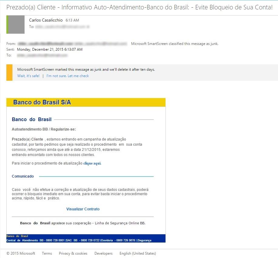 Analise de Fraudes Online (Phishing Scam)